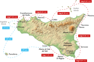 Round Sicily 2018 - Itinerary Map